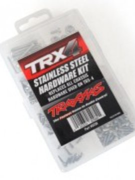 Traxxas TRA8298  TRX4 Stainless Steel Hardware Kit Replaces All Chassis Hardware used on TRX4