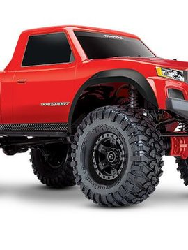TRA TRA82024-4-Red TRX-4 Sport: 4WD Electric Truck with TQ 2.4GHz Radio System