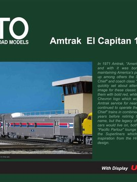 Kato KAT106079 N Passenger Car Set, Amtrak/El Capitan (10)