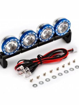 INT C23348BLUE Alloy Roof Top Spot Light Set LED White (4)