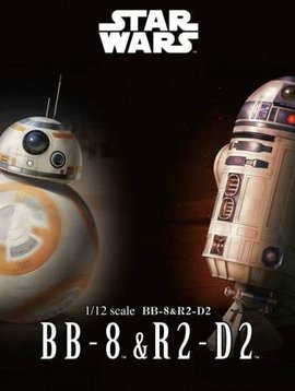 BAN BAN203220 1/12 Scale BB-8 & R2-D2 Plastic Model Kit Star Wars
