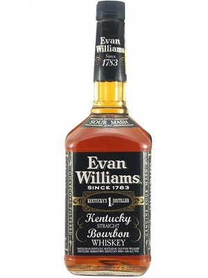 Evan Williams Straight Bourbon Whiskey 'Black Label', Bardstown, Kentucky (375ml)