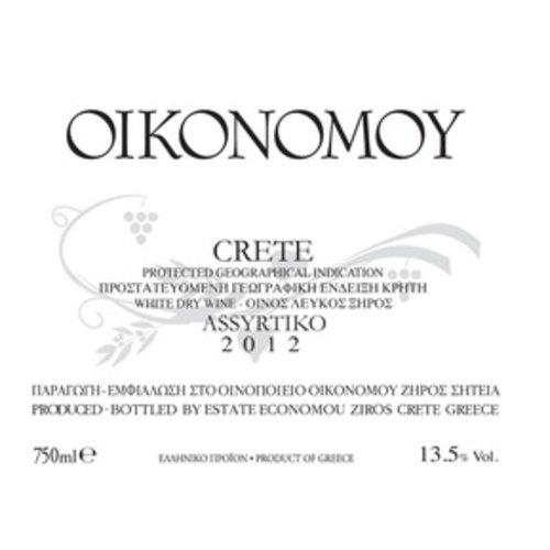 Domaine Economou 'Oikonomoy' Assyrtiko 2012, Crete, Greece