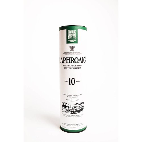 Laphroaig Scotch Single Malt 10 Year, Islay, Scotland  (750ml)