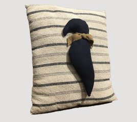 Nanas Farmhouse Primitive Crow Pillow