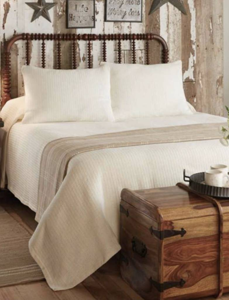 Park Designs Farmington Cream Queen Bedspread