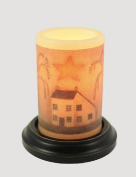 C R Designs Prim Saltbox House Candle Sleeve