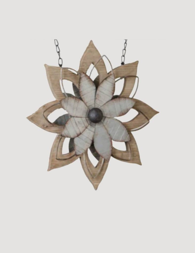 K & K Interiors Metal & Brown Wood Flower Arrow Replacement
