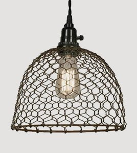 CTW Home Collection Chicken Dome Pendant 10'' dia. x 10¾''H