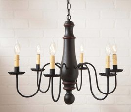 Irvin's Tinware Manassas Wood Chandelier in Sturbridge