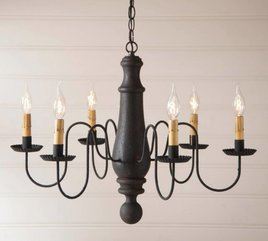 Irvin's Tinware Norfolk Wood Chandelier in Hartford Large