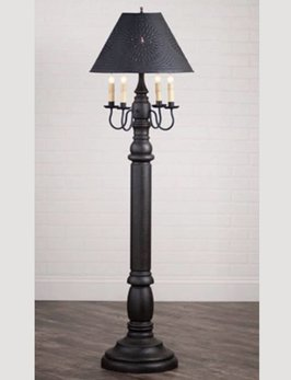 Irvin's Tinware General James Floor Lamp with Textured Black Shade