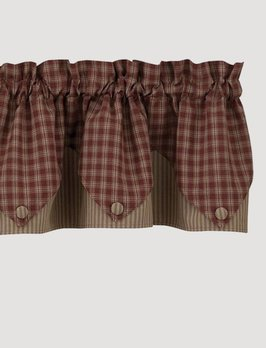 Park Designs Sturbridge Point Valance Wine