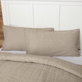 VHC Brands Sawyer Mill Ticking Stripe Shams