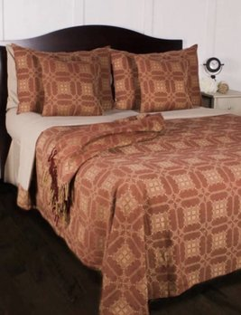 Home Collections By Raghu Smithfield Jacquard King Red Bed Cover