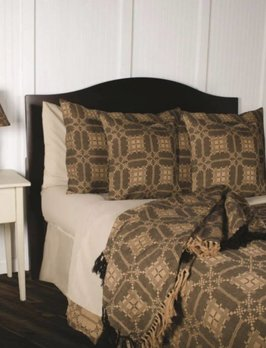 Home Collections By Raghu Smithfield Jacquard Queen Black Bed Cover