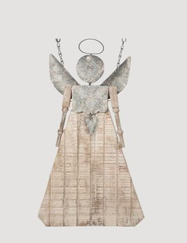 K & K Interiors Distressed Angel with Tin Wings Arrow Replacement