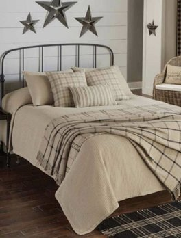 Park Designs Farmington Queen Oatmeal Bedspread