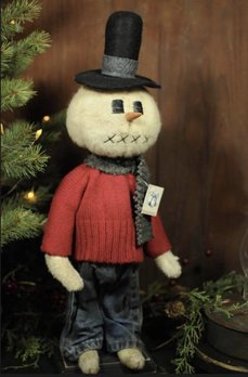 Snowman with Red Sweater & Top Hat