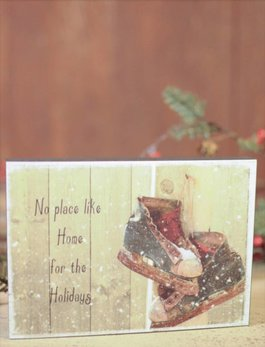 Home For The Holidays Block Sign