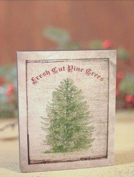 Fresh Cut Pine Tree with Glitter
