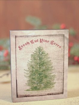 Nana's Farmhouse Fresh Cut Pine Tree with Glitter