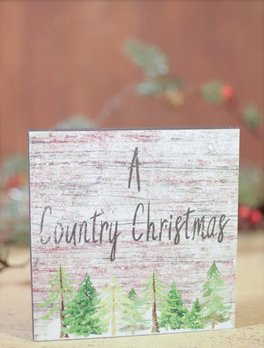 A Country Christmas Block Sign