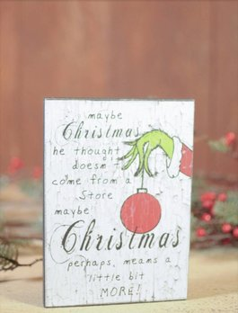 Grinch Block Sign