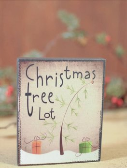Nanas Farmhouse Christmas Tree Lot Block Sign