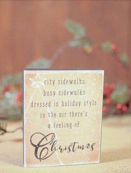Feeling Of Christmas Block Sign