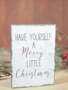 Nana's Farmhouse Have Yourself A Merry Little Christmas Block Sign