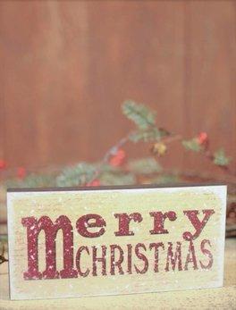 Nanas Farmhouse M for Merry Christmas Block Sign