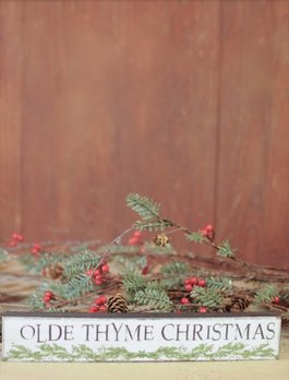 Olde Thyme Christmas Block Sign