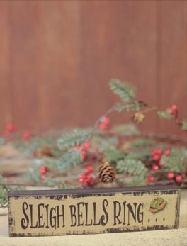 Nana's Farmhouse Sleigh Bells Ring Block Sign
