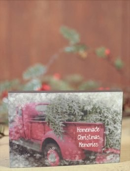 Nanas Farmhouse Homemade Christmas Memories Block Sign