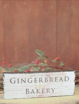Nana's Farmhouse Gingerbread Bakery Block Sign