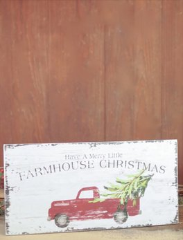 Farmhouse Christmas Art Sign