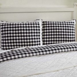 VHC Brands Annie Buffalo Black Check Pillow Shams