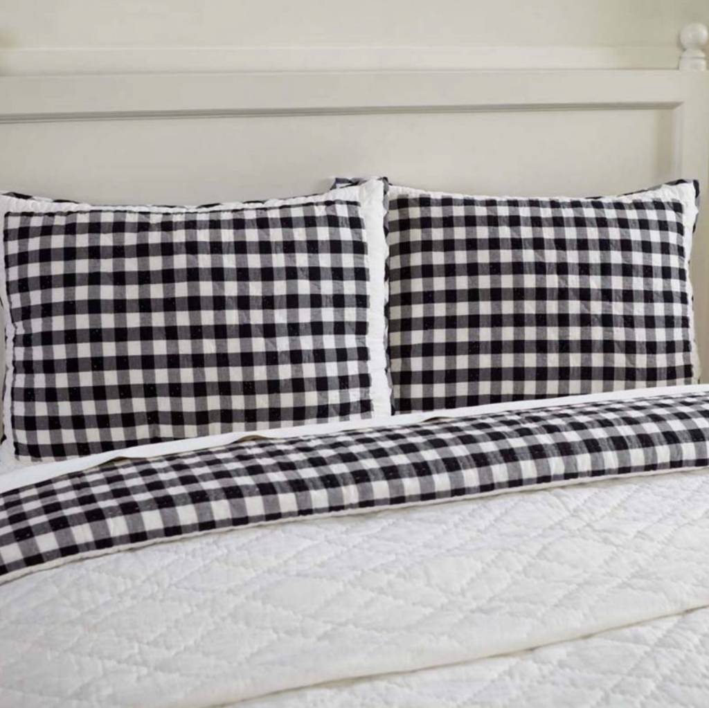 VHC Brands Annie Buffalo Black Check Pillow Shams