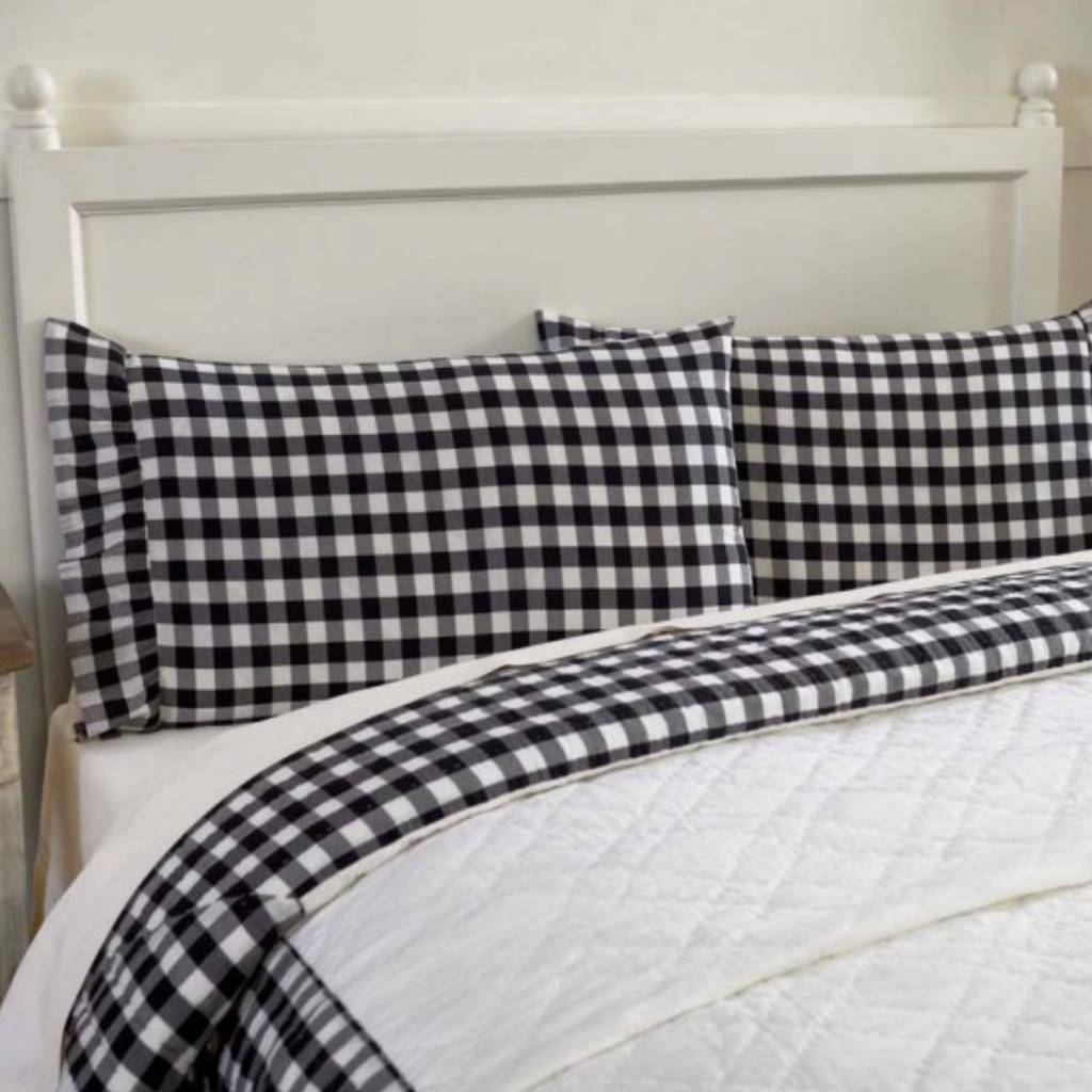 VHC Brands Annie Buffalo Black  Check Pillow Cases