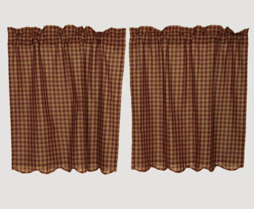 VHC Brands VHC Brands Burgundy Check Tier Set