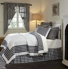 VHC Brands Annie Buffalo Black Check Quilt