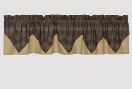 VHC Brands Kettle Grove Plaid Layered Valance