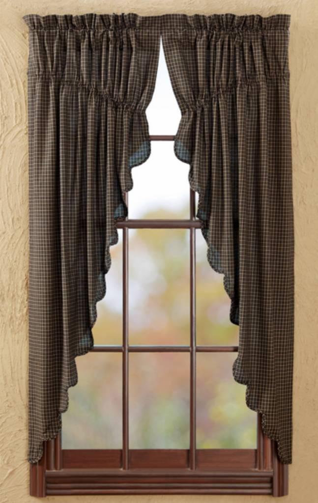 "VHC Brands Kettle Grove Plaid Prairie Short Scalloped Panels 63"" x 36"" x 18"""