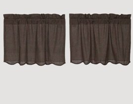 VHC Brands Kettle Grove Plaid Scalloped Tiers
