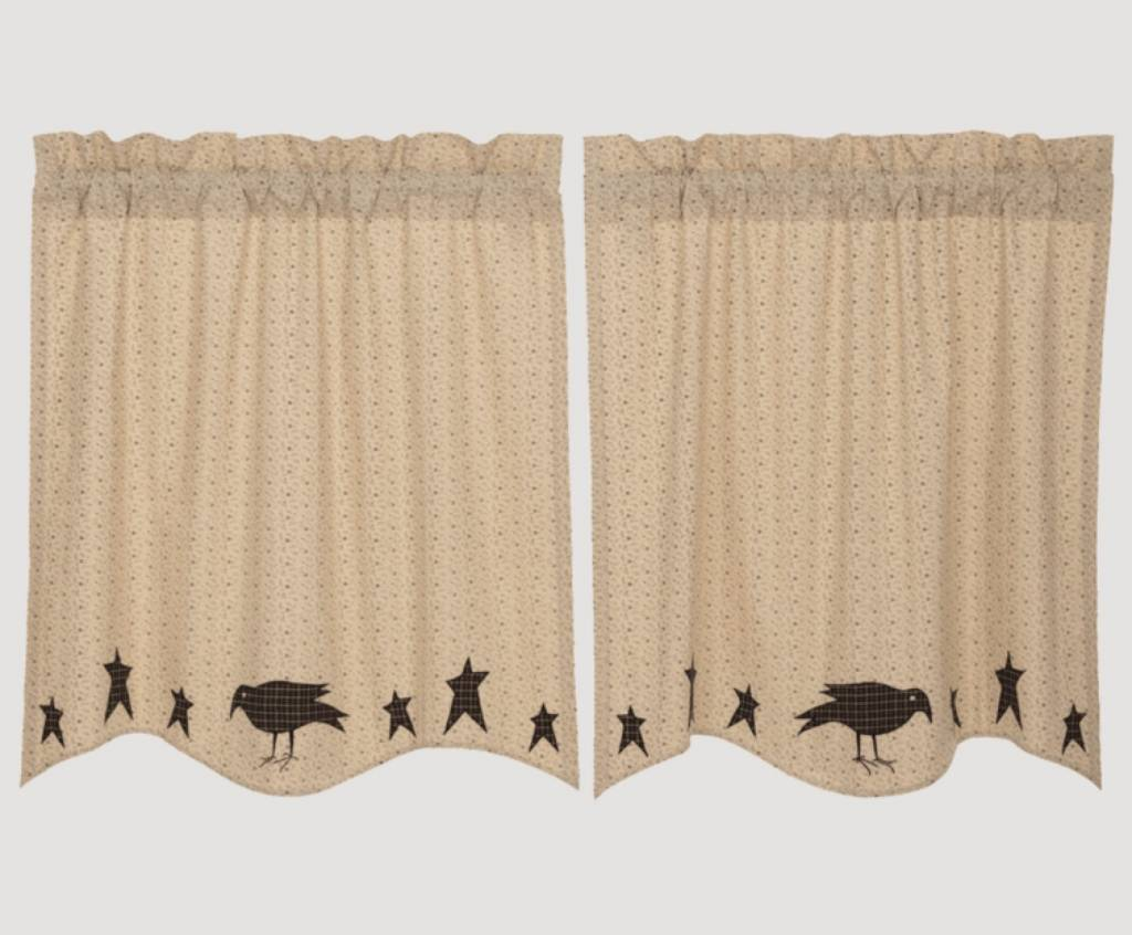 VHC Brands Kettle Grove Applique Crow and Star Tiers