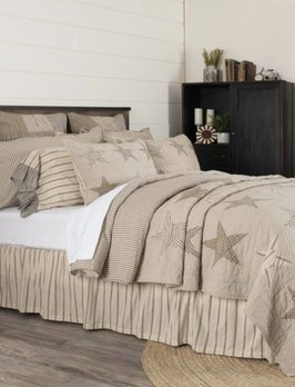 VHC Brands Sawyer Mill Star Charcoal Quilted Collection