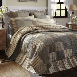 VHC Brands Sawyer Mill Charcoal Bedding Collection Queen