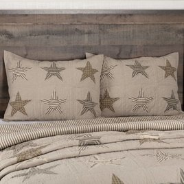 VHC Brands Sawyer Mill Star Charcoal Pillow Sham Standard