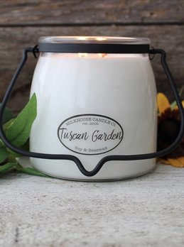 Milkhouse Candles Tuscan Garden 16oz Butter Jar